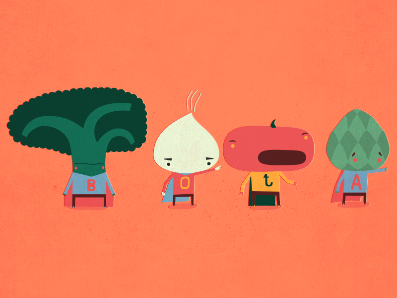 Vegetables character design illustration vector superheroes vegetables broccoli onion tomato artichoke