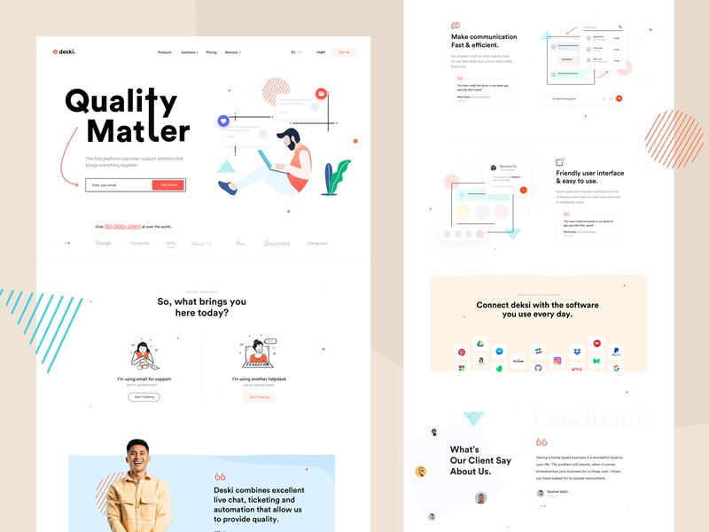Customer Support creative design saas design saas saas landing page ui design customer service customer support customer experience ui illustration portfolio marketing trend creative startup corporate minimal agency business