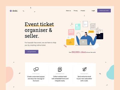 Event Organiser illustration startup agency business sketch saas multipurpose mobile app landing page digital marketing creative apps application app website app landing