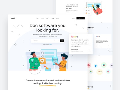Documentation Landing Page illustration creative trend startup corporate minimal agency document doc landing documentation docs doc business