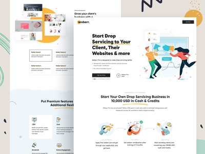 Pro Membership membership pro referral creative landing page portfolio illustration marketing startup corporate agency business