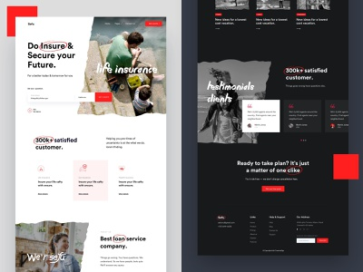 Insurance Dark vs Light minimal dark dark mode dark ui creative health insurance car insur marketing portfolio startup life insurance corporate agency business