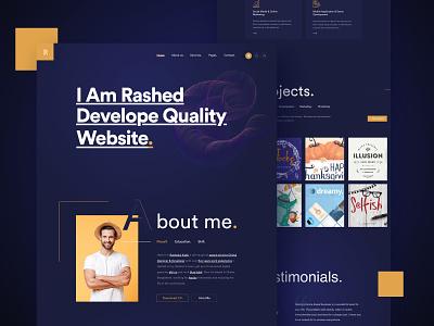Portfolio Dark dark dark ui personal branding landing page marketing creative startup corporate personal portfolio portfolio agency business