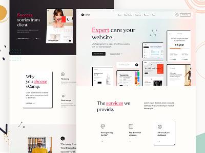 WordPress Service Provider dark service provier landing portfolio wordpress marketing creative minimal startup corporate agency business