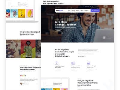 Buisness & Training Landing Page agency minimal stylish shop portfolio photography multi-purpose modern elegant design clean business