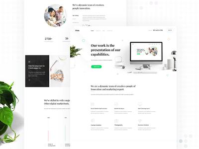 Minimal Agency Landing Page