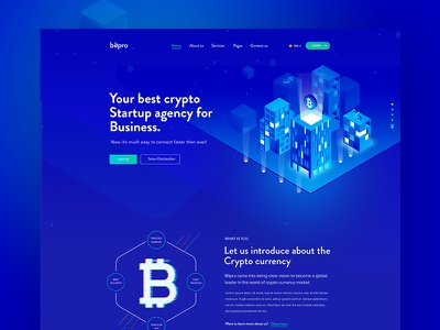 Ico Crypto Landing Page ico wallet trade dark marketing forex cryptocurrency crypto coin business bitcoin agency