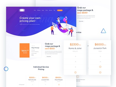 Pricing Page modern trend corporate business colourful minimal pricing plan membership plan pricing