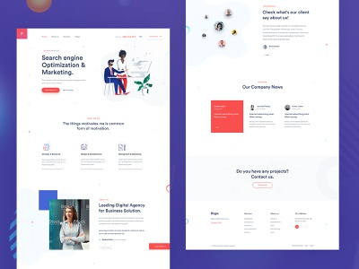Creative Agency Landing Page. creative marketing startup landing landing page modern illustration trend minimal coporate business agency