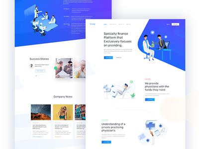 Financial Support Platform medical doctor creative corporate illustration marketing startup agency business