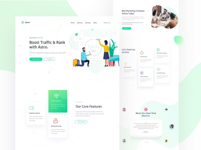 SEO & Digital Agency seo illustration we design web template ui vector corporate design portfolio marketing creative startup agency business