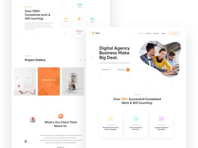 Creative Agency startup corporate web design web template marketing ui landing page creative agency