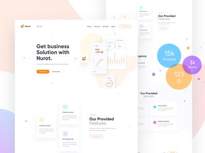 Nurot - Marketing Agency corporate digital agency modern clean startup web design ui marketing seo