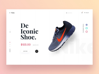 Banner Exploration for eCommerce minimal shopping shop shoe adidas nike e-comerce ecommerce