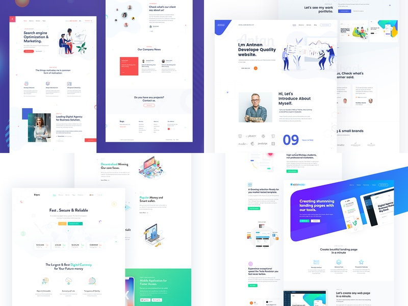 Top4Shots from 2018 2018 year branding creative trend ui design minimal startup agency corporate business