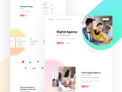 Agency & Marketing Landing creative agency creative portfolio gradient business corporate marketing agency