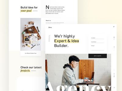 Minimal Agency Portfolio landing page trend ui design flat portfolio creative startup agency minimal corporate business