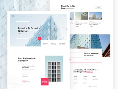 Architecture Landing web creative landing page minimal trend ui portfolio marketing startup agency business real estate exterior interiror architecture