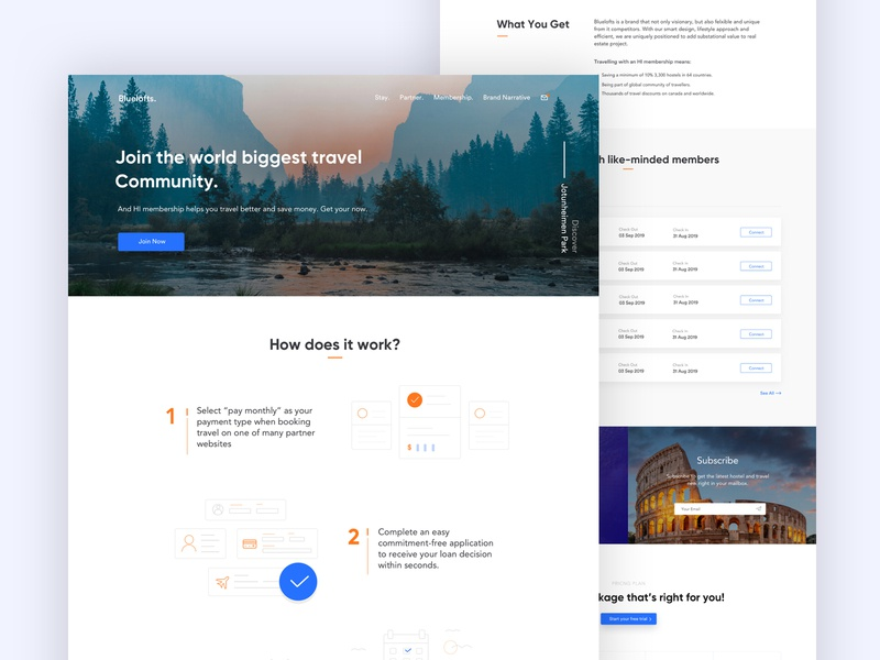 Membership Page membership travel agency illustration portfolio marketing creative trend startup minimal corporate agency business travel