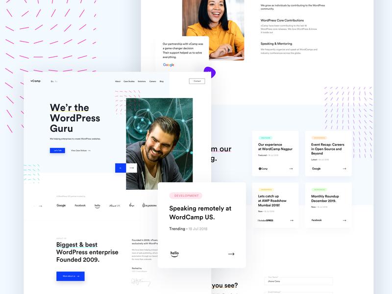 WordPress Service Provider solution userinterface landingpage trend marketing branding design creative startup corporate agency business enterprise wordpress