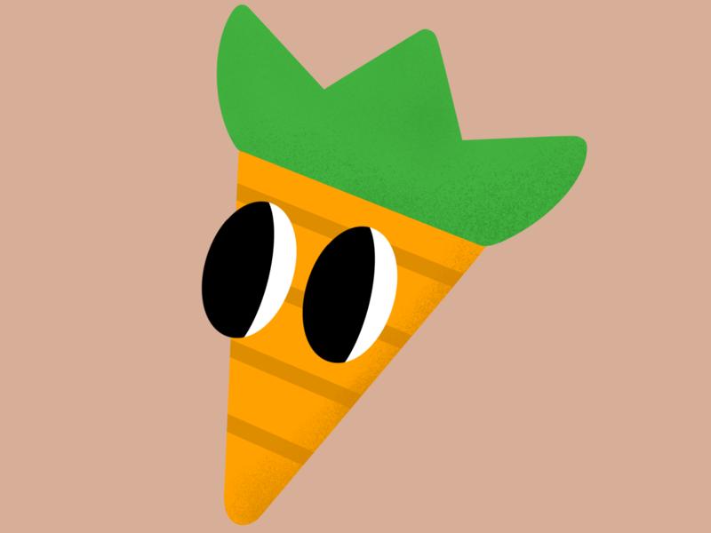 Carrot! texture carrot food illustration procreate