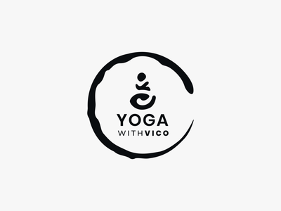 Yoga with Vico - independent yoga teacher 3/4 yoga yoga logo logo enso branding inkscape