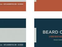 Beard of Steele business cards