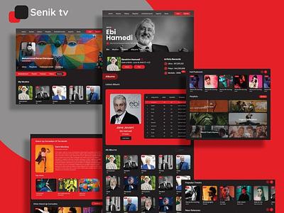 Senik Web UI webdesigns website design web website web ui ux landing page web design ux ui design
