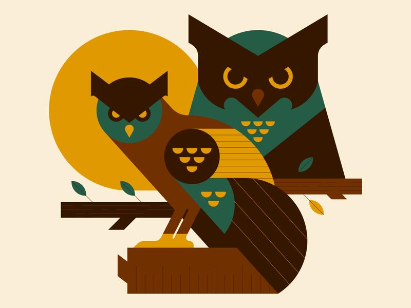hoothoot design line geometric minimal graphic design character vector icon icons illustration