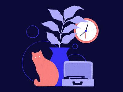 cat.plant. character sketch cat minimal design geometric graphic design vector icons icon illustration