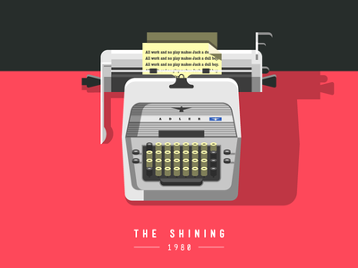 The Shining icon icons vector the shining movie poster movie red shadow illustration