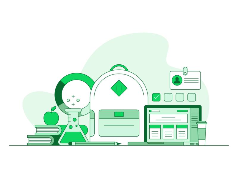 Student Illustration iconography graphic design simple green web  design ui vector icons icon illustration