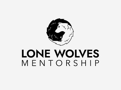 Lone Wolves Mentorship graphic design vector illustrator branding minimal typography illustration logo design