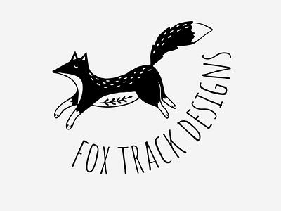 Fox Track Designs Logo vector illustrator graphic design typography illustration logo design branding