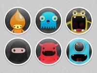 Cute monster avatars