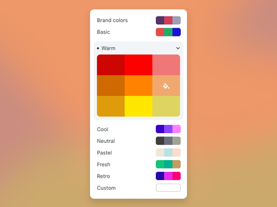 Color picker dropdown menu accordian color palette component colors fun interactive interface ui picker color