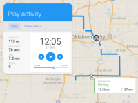 Mappps schedule ux ui activitiy notification material design timeline playback maps