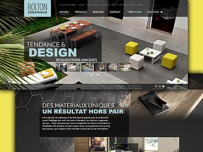 Bolton Ceramique- Web Design simple website queries media page landing html development css clean