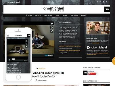 Onemichael - Resposive Website simple website responsive queries media page landing html development css clean