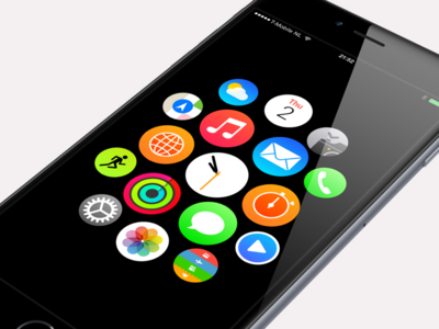Apple Watch iPhone 6 Plus interface webapp