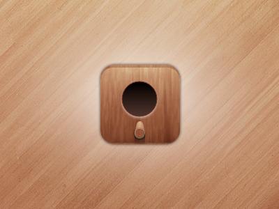 Birdhouse Icon wood birdbox brown pattern ipad iphone app
