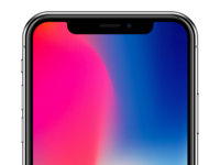 iPhone X Sketch Template