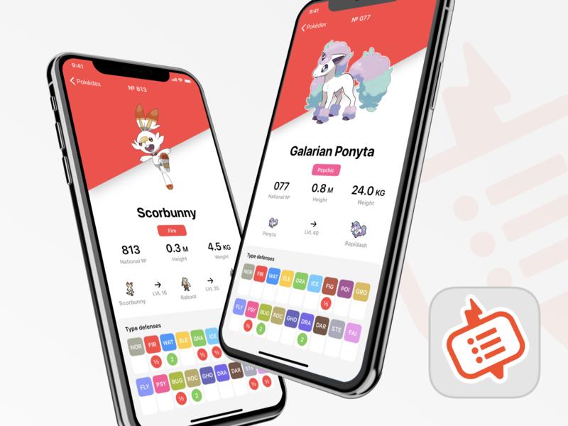 Galarian Pokédex iOS App app iphone ponyta nintendo pokedex pokemon