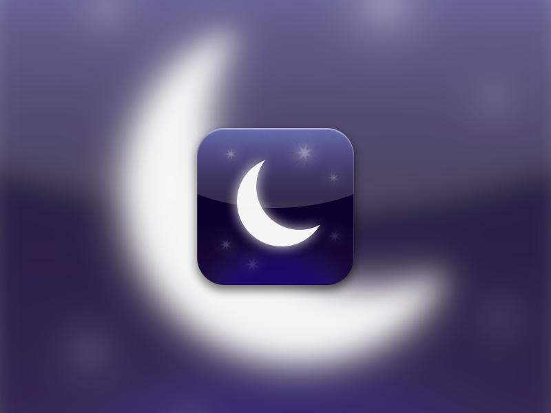 Do Not Disturb icon moon purple stars apple night sky