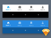 Material Bottom Navigation (Freebie)
