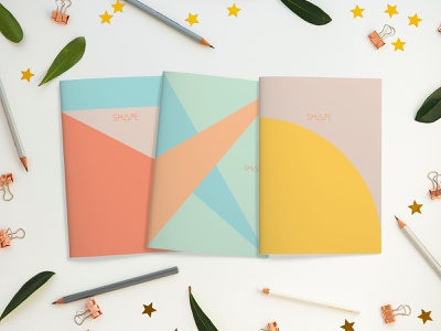 Shape Notebooks notebook design journaling bullet journal minneapolis local small business bright colors typography hand lettering drawing illustration design grid design grid new product product design notetaking journal sketchbook notebook