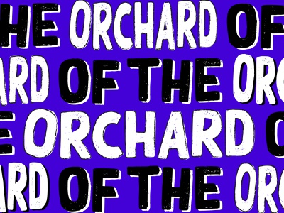 Of The Orchard brand identity identity music lettering type bright colors blue band texture typography hand lettering grunge font grunge illustration design branding logo design logo band logo