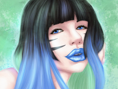 Lily Russo firly webtoon canvas webcomic the ties that bind paintable photoshop adobe digital art green blue lily russo becbarts