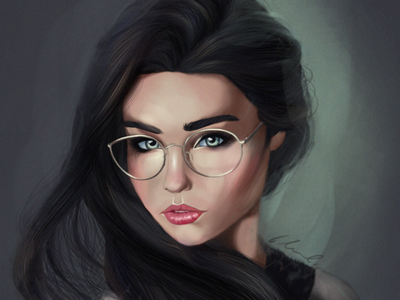 Portrait Study 1 painting illustration digital photoshop