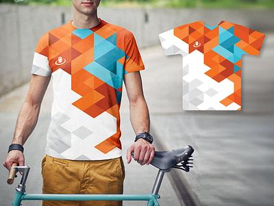 Running t-shirt t-shirt shirt sport design draugiem.lv orange geometric pattern vector